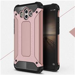 King Kong Armor Premium Shockproof Dual Layer Rugged Hard Cover for Huawei Mate 10 (5.9 inch, front Fingerprint) - Rose Gold