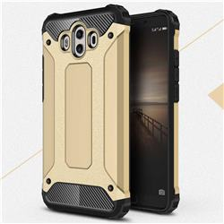 King Kong Armor Premium Shockproof Dual Layer Rugged Hard Cover for Huawei Mate 10 (5.9 inch, front Fingerprint) - Champagne Gold