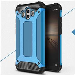 King Kong Armor Premium Shockproof Dual Layer Rugged Hard Cover for Huawei Mate 10 (5.9 inch, front Fingerprint) - Sky Blue