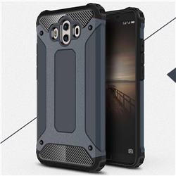 King Kong Armor Premium Shockproof Dual Layer Rugged Hard Cover for Huawei Mate 10 (5.9 inch, front Fingerprint) - Navy