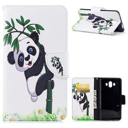 Bamboo Panda Leather Wallet Case for Huawei Mate 10 (5.9 inch, front Fingerprint)