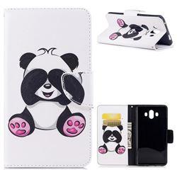 Lovely Panda Leather Wallet Case for Huawei Mate 10 (5.9 inch, front Fingerprint)