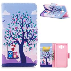 Tree and Owls Leather Wallet Case for Huawei Mate 10 (5.9 inch, front Fingerprint)