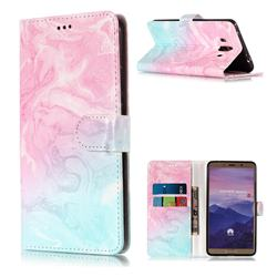 Pink Green Marble PU Leather Wallet Case for Huawei Mate 10 (5.9 inch, front Fingerprint)