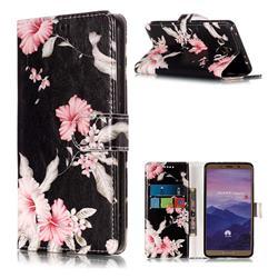 Azalea Flower PU Leather Wallet Case for Huawei Mate 10 (5.9 inch, front Fingerprint)
