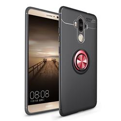 Auto Focus Invisible Ring Holder Soft Phone Case for Huawei Mate9 Mate 9 - Black Red