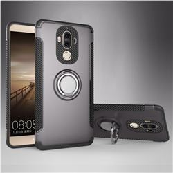 Armor Anti Drop Carbon PC + Silicon Invisible Ring Holder Phone Case for Huawei Mate9 Mate 9 - Grey
