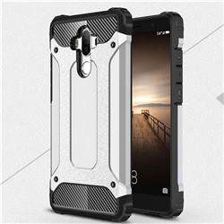 King Kong Armor Premium Shockproof Dual Layer Rugged Hard Cover for Huawei Mate9 Mate 9 - Technology Silver