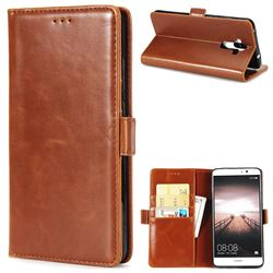 Luxury Crazy Horse PU Leather Wallet Case for Huawei Mate9 Mate 9 - Brown