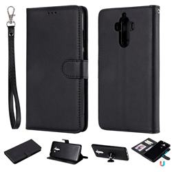 Retro Greek Detachable Magnetic PU Leather Wallet Phone Case for Huawei Mate9 Mate 9 - Black