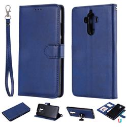Retro Greek Detachable Magnetic PU Leather Wallet Phone Case for Huawei Mate9 Mate 9 - Blue