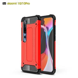 King Kong Armor Premium Shockproof Dual Layer Rugged Hard Cover for Xiaomi Mi 10 / Mi 10 Pro 5G - Big Red