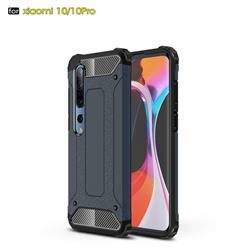 King Kong Armor Premium Shockproof Dual Layer Rugged Hard Cover for Xiaomi Mi 10 / Mi 10 Pro 5G - Navy