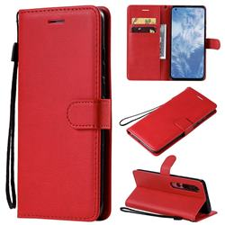 Retro Greek Classic Smooth PU Leather Wallet Phone Case for Xiaomi Mi 10 / Mi 10 Pro 5G - Red