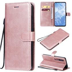 Retro Greek Classic Smooth PU Leather Wallet Phone Case for Xiaomi Mi 10 / Mi 10 Pro 5G - Rose Gold