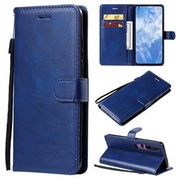 Retro Greek Classic Smooth PU Leather Wallet Phone Case for Xiaomi Mi 10 / Mi 10 Pro 5G - Blue