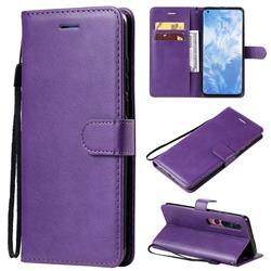 Retro Greek Classic Smooth PU Leather Wallet Phone Case for Xiaomi Mi 10 / Mi 10 Pro 5G - Purple