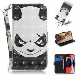 Angry Bear 3D Painted Leather Wallet Phone Case for Xiaomi Mi 10 / Mi 10 Pro 5G