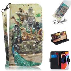 Beast Zoo 3D Painted Leather Wallet Phone Case for Xiaomi Mi 10 / Mi 10 Pro 5G