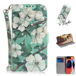 Watercolor Flower 3D Painted Leather Wallet Phone Case for Xiaomi Mi 10 / Mi 10 Pro 5G