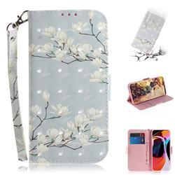 Magnolia Flower 3D Painted Leather Wallet Phone Case for Xiaomi Mi 10 / Mi 10 Pro 5G