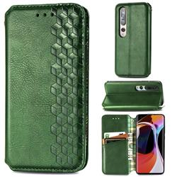 Ultra Slim Fashion Business Card Magnetic Automatic Suction Leather Flip Cover for Xiaomi Mi 10 / Mi 10 Pro 5G - Green