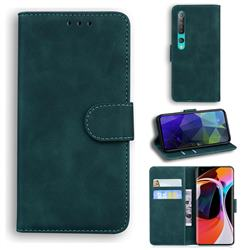 Retro Classic Skin Feel Leather Wallet Phone Case for Xiaomi Mi 10 / Mi 10 Pro 5G - Green