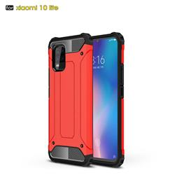 King Kong Armor Premium Shockproof Dual Layer Rugged Hard Cover for Xiaomi Mi 10 Lite - Big Red