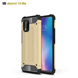 King Kong Armor Premium Shockproof Dual Layer Rugged Hard Cover for Xiaomi Mi 10 Lite - Champagne Gold