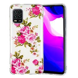 Peony Noctilucent Soft TPU Back Cover for Xiaomi Mi 10 Lite