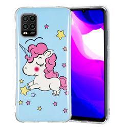 Stars Unicorn Noctilucent Soft TPU Back Cover for Xiaomi Mi 10 Lite