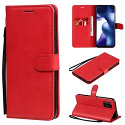 Retro Greek Classic Smooth PU Leather Wallet Phone Case for Xiaomi Mi 10 Lite - Red