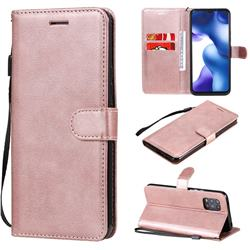 Retro Greek Classic Smooth PU Leather Wallet Phone Case for Xiaomi Mi 10 Lite - Rose Gold