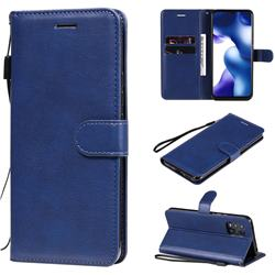 Retro Greek Classic Smooth PU Leather Wallet Phone Case for Xiaomi Mi 10 Lite - Blue
