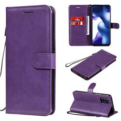 Retro Greek Classic Smooth PU Leather Wallet Phone Case for Xiaomi Mi 10 Lite - Purple