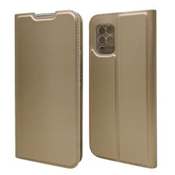 Ultra Slim Card Magnetic Automatic Suction Leather Wallet Case for Xiaomi Mi 10 Lite - Champagne
