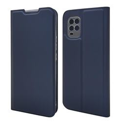 Ultra Slim Card Magnetic Automatic Suction Leather Wallet Case for Xiaomi Mi 10 Lite - Royal Blue