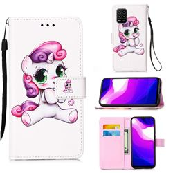 Playful Pony Matte Leather Wallet Phone Case for Xiaomi Mi 10 Lite