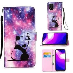 Panda Baby Matte Leather Wallet Phone Case for Xiaomi Mi 10 Lite