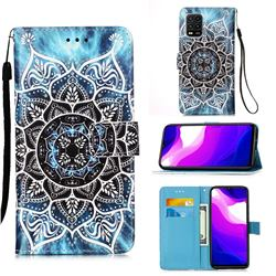 Underwater Mandala Matte Leather Wallet Phone Case for Xiaomi Mi 10 Lite