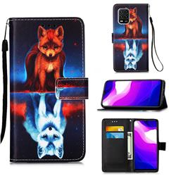 Water Fox Matte Leather Wallet Phone Case for Xiaomi Mi 10 Lite