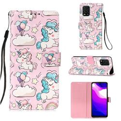 Angel Pony 3D Painted Leather Wallet Case for Xiaomi Mi 10 Lite