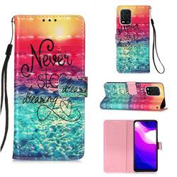 Colorful Dream Catcher 3D Painted Leather Wallet Case for Xiaomi Mi 10 Lite