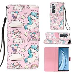Angel Pony 3D Painted Leather Wallet Case for Xiaomi Mi 10S