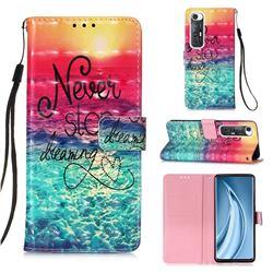 Colorful Dream Catcher 3D Painted Leather Wallet Case for Xiaomi Mi 10S