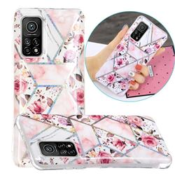 Rose Flower Painted Galvanized Electroplating Soft Phone Case Cover for Xiaomi Mi 10T / 10T Pro 5G
