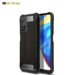 King Kong Armor Premium Shockproof Dual Layer Rugged Hard Cover for Xiaomi Mi 10T / 10T Pro 5G - Black Gold