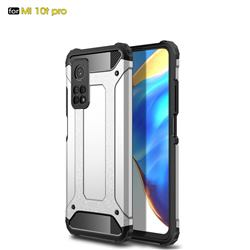 King Kong Armor Premium Shockproof Dual Layer Rugged Hard Cover for Xiaomi Mi 10T / 10T Pro 5G - White