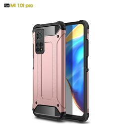 King Kong Armor Premium Shockproof Dual Layer Rugged Hard Cover for Xiaomi Mi 10T / 10T Pro 5G - Rose Gold
