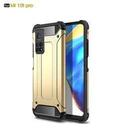 King Kong Armor Premium Shockproof Dual Layer Rugged Hard Cover for Xiaomi Mi 10T / 10T Pro 5G - Champagne Gold